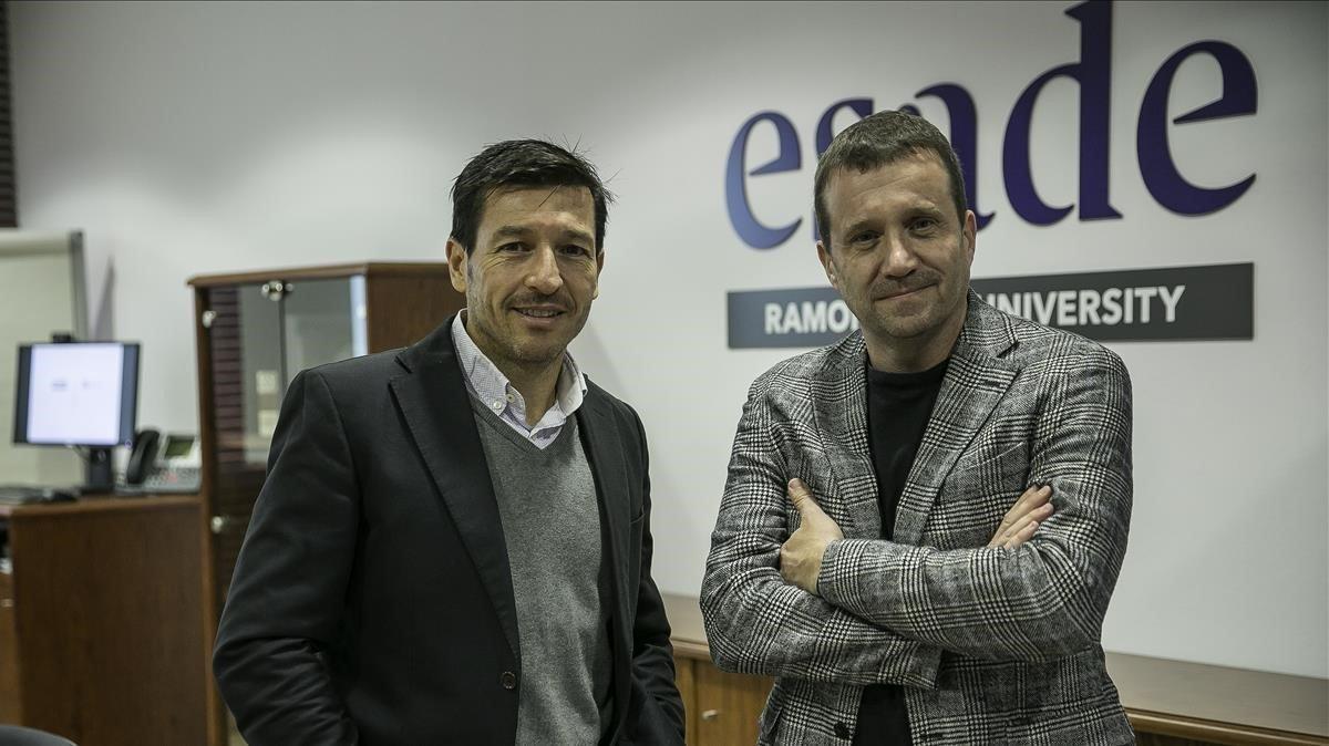 Julio Villalobos (izquierda), director corporativo de Esade y Miquel Martí, consejero delegado de Barcelona Tech City