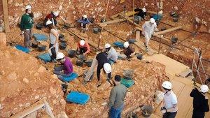 Excavación arqueológica en Atapuerca.