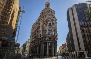 Sede social de Caixabank, ubicada en el edificio histórico del antiguo Banco de Valencia.