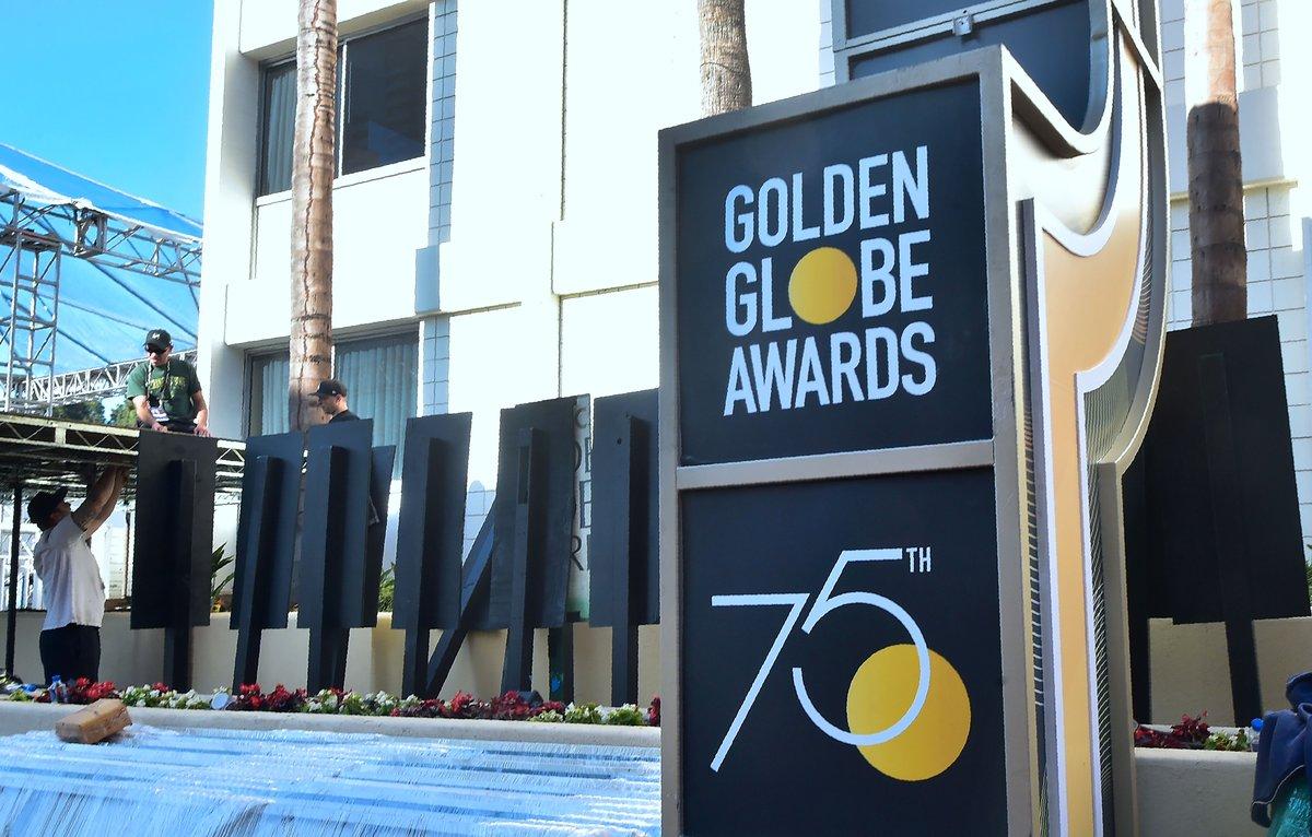 Los Globos de Oro se preparan para esta noche.