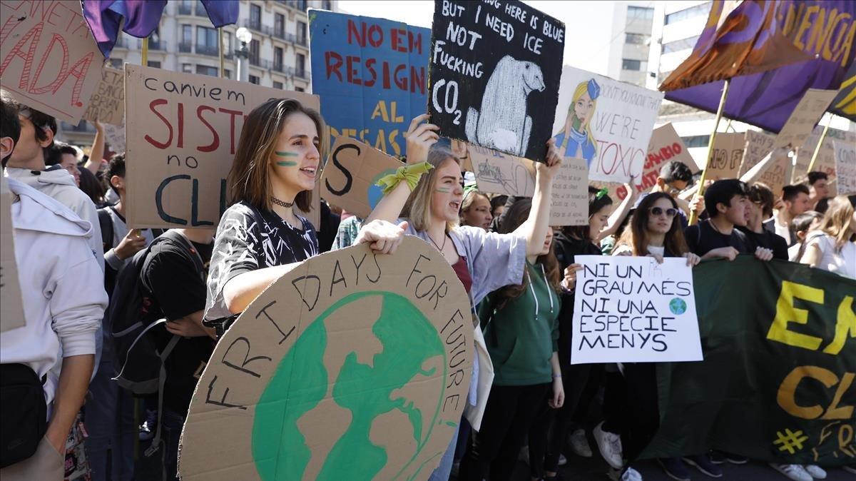 ManifestacionFridays for Futureen Barcelona, en Marzo.