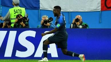 Un cop de cap d'Umtiti col·loca França a la final del Mundial