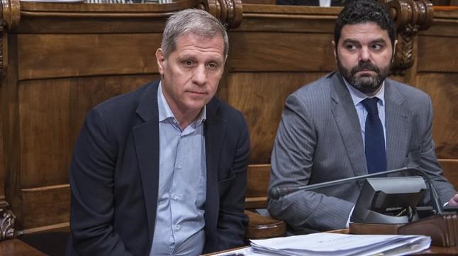 El líder del PP en el Ayuntamiento de Barcelona, Alberto Fernández Díaz, en el consistorio.