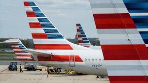 Aviones de American Airlines en un aeropuerto de Washington