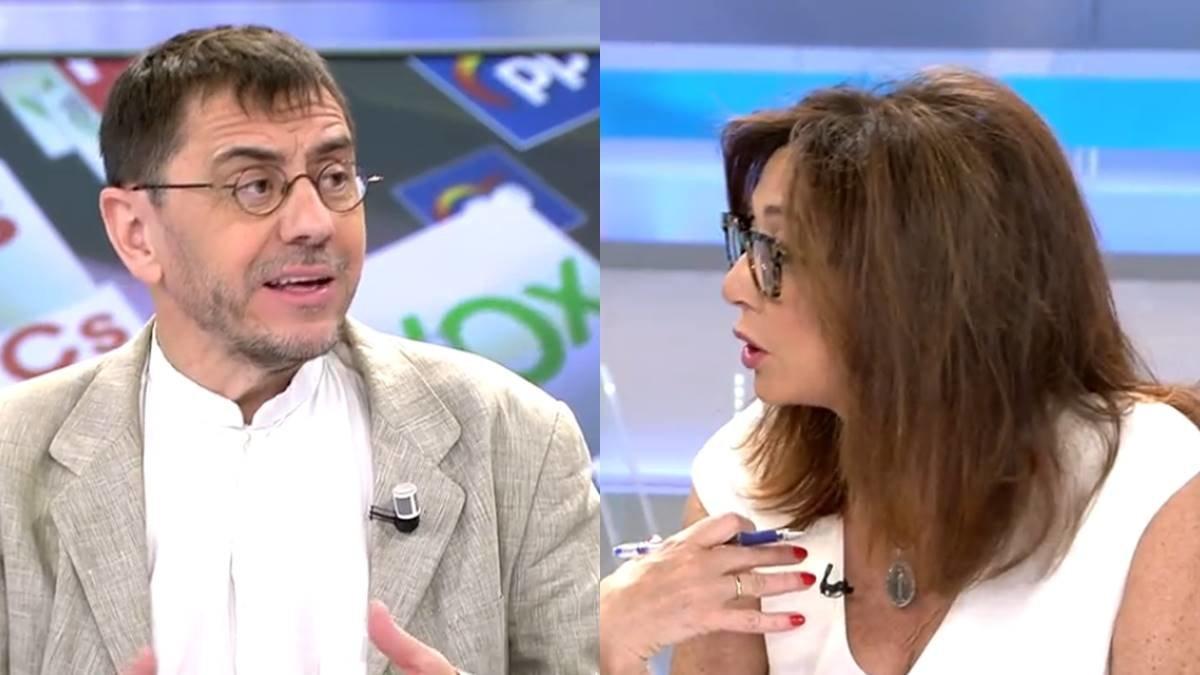 """Nuevo tira y afloja entre Ana Rosa y Monedero: """"Si yo no fuera plural no estarías aquí"""""""