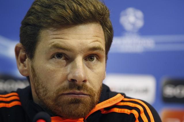 André Villas-Boas, en una rueda de prensa previa a un partido de Champions League