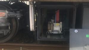 El apagachispas de los vagones del metro de Madrid, la pieza que contiene amianto.
