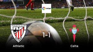 El Athletic y el Celta se reparten los puntos tras su empate a uno