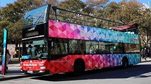 Un autobús turístico de Barcelona.
