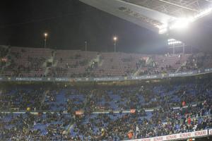 Aspecto de las gradas del Camp Nou, en el partido de Copa que el Barça ganó al Celta.