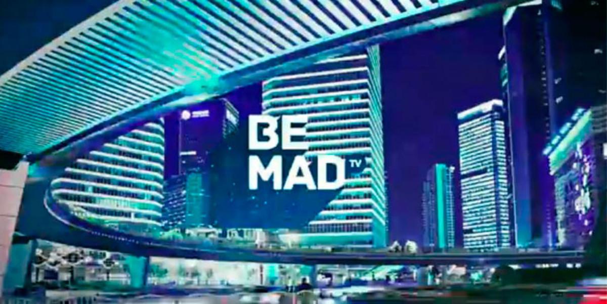 Imagen promocional de Be Mad, el nuevo canal en abierto y en alta definición del grupo Mediaset.