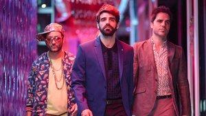 Carlos Santos, David Verdaguer y Ernesto Sevilla, en 'Lo dejo cuando quiera', de Carlos Therón