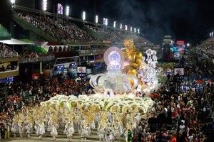 El sambódromo en el carnaval de Río de Janeiro, Brasil.