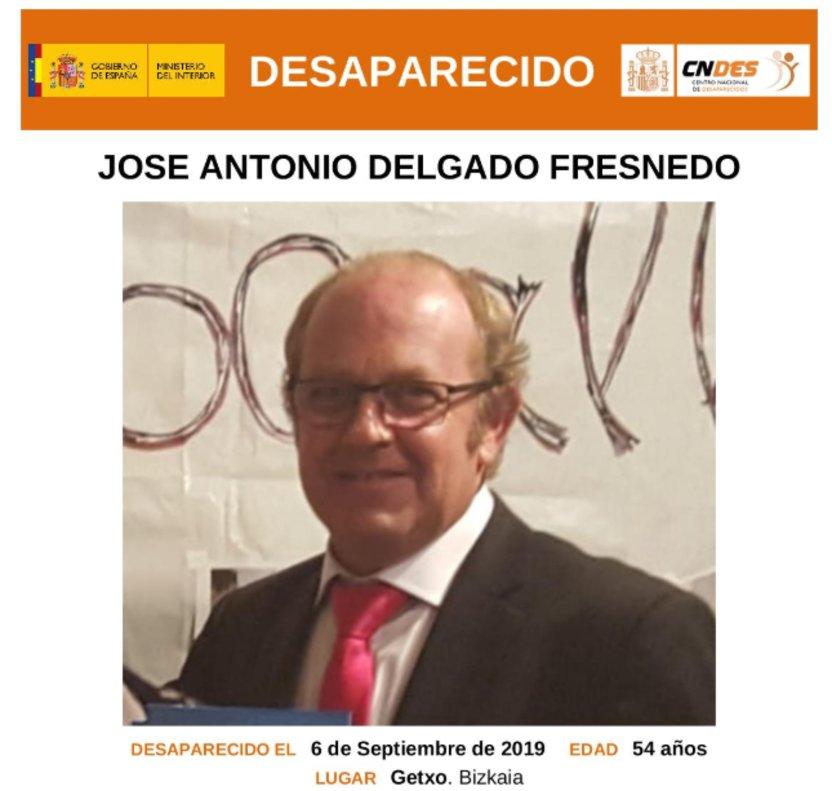 Cartel de búsqueda de José Antonio Delgado Fresnedo.