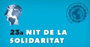 Cartel de la 23ª Nit de la Solidaritat de Mataró.