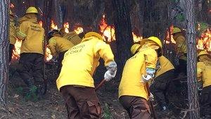 Chile vive una ola de incendios forestales que han arrasado con miles de hectáreas.AFPEjército de Chile