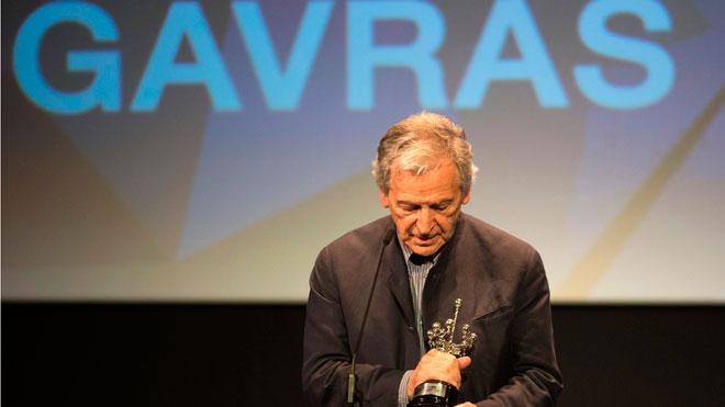 Costa-Gavras agradece el Donostia, un premio precioso para un cineasta.