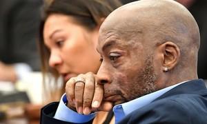Dewayne, en un momento del juicio en San Francisco