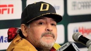 Maradona, en conferencia de prensa.