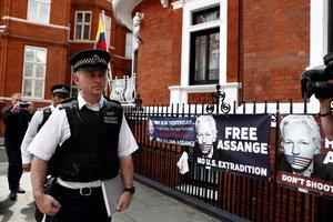 La embajada de Ecuador en Londres, donde estuvo refugiadoJulian Assange.