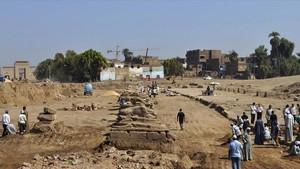 Excavaciones arqueológicas en Egipto.