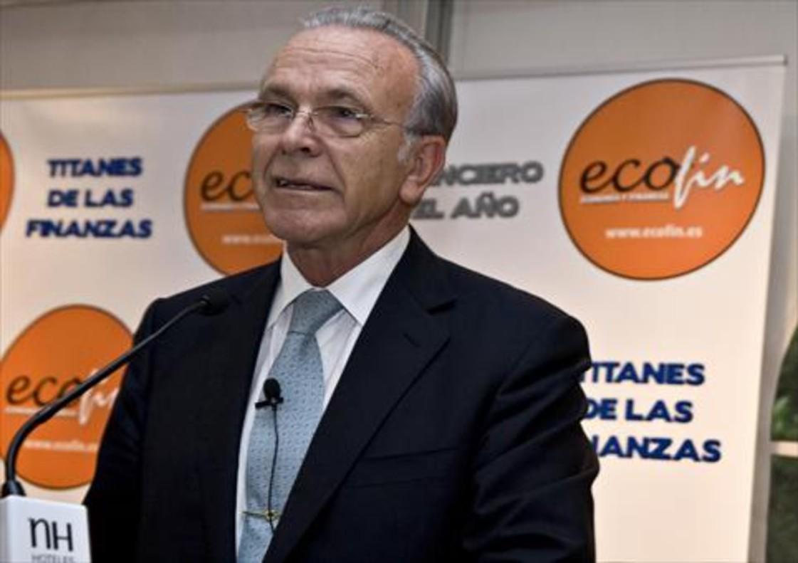 Isidre Fainé, durante la entrega de un premio financiero.