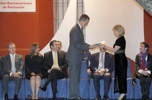 Felipe VI recibe la llave de honor de la ciudad de La Antigua Guatemala