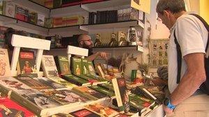 Una caseta de la Feria del Libro de Madrid.