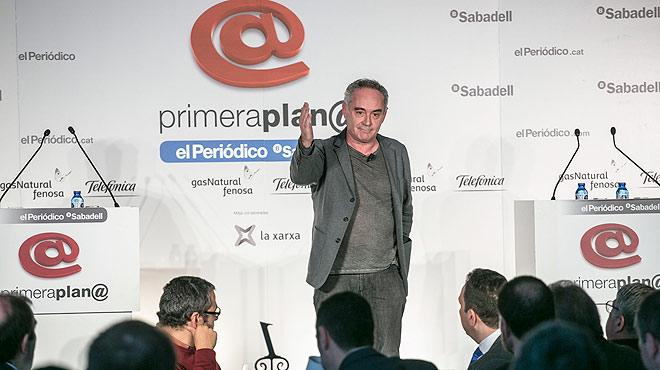 El cocinero Ferran Adrià explica su proyecto de El Bulli Foundation en el Coloquio Primera Plana.