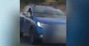 Un fotograma del vídeo captado por otro conductor.