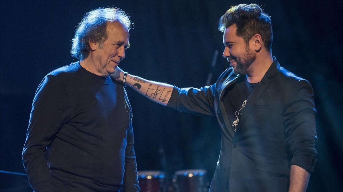Joan Manuel Serrat y Miguel Poveda