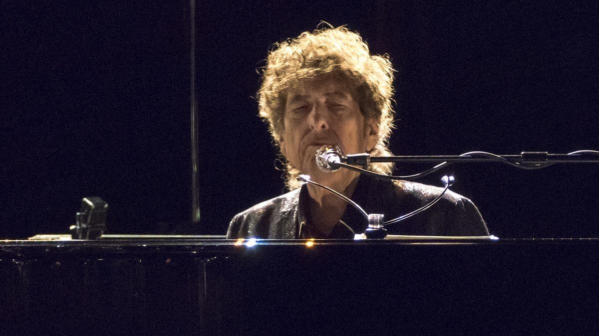 Bob Dylan durante su primer concierto en el Liceu