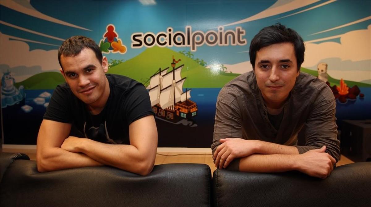 Horacio Martos y Andrés Bou, dos de los fundadores de Social Point.