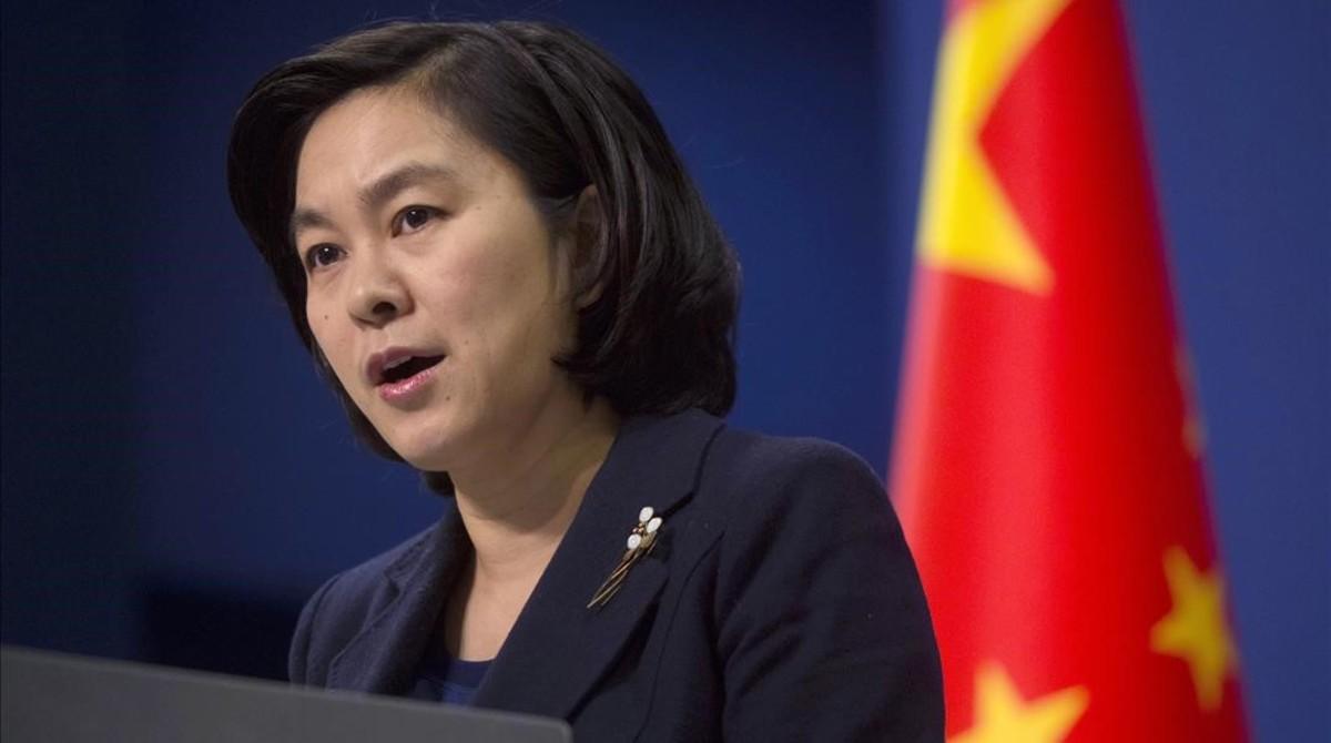 Hua Chunying, portavoz del Ministerio de Exteriores chino, en una conferencia de prensa, en Pekín, en una imagen de archivo.