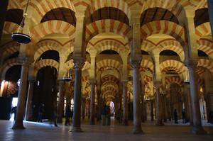 Imagen promocional del interior de la mezquita de Córdoba.