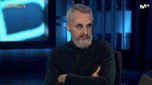 """Miguel Bosé reaparece en 'Late motiv' de la mano de Raúl Pérez: """"Me lavo las manos con Mi Gel Bosé"""""""