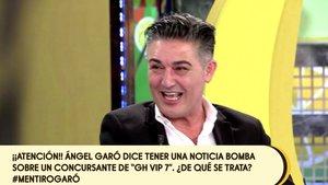 Ángel Garó toma el pelo a 'Sálvame': dice que tiene una bomba para promocionar su nuevo espectáculo