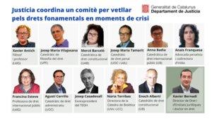 La Generalitat crea un comitè d'experts per garantir els drets fonamentals en situacions d'emergència