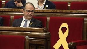 Jordi Turull, durante el pleno de su investidura fallida