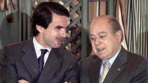 José María Aznar y Jordi Pujol, en una imagen del 2002
