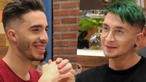 Juanma y Stefano en 'First Dates'.