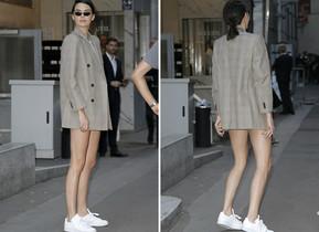 Kendall Jenner, con su adaptación del traje de oficina para mujer.