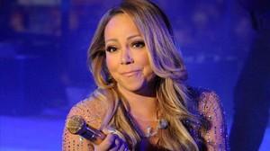 Mariah Carey, durante su actuación en Times Square, en diciembre del 2016.