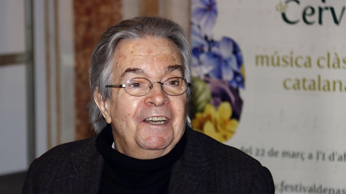 Antoni Ros-Marbà en la presentación de la octava edición del Festival de Pasqua de Cervera.