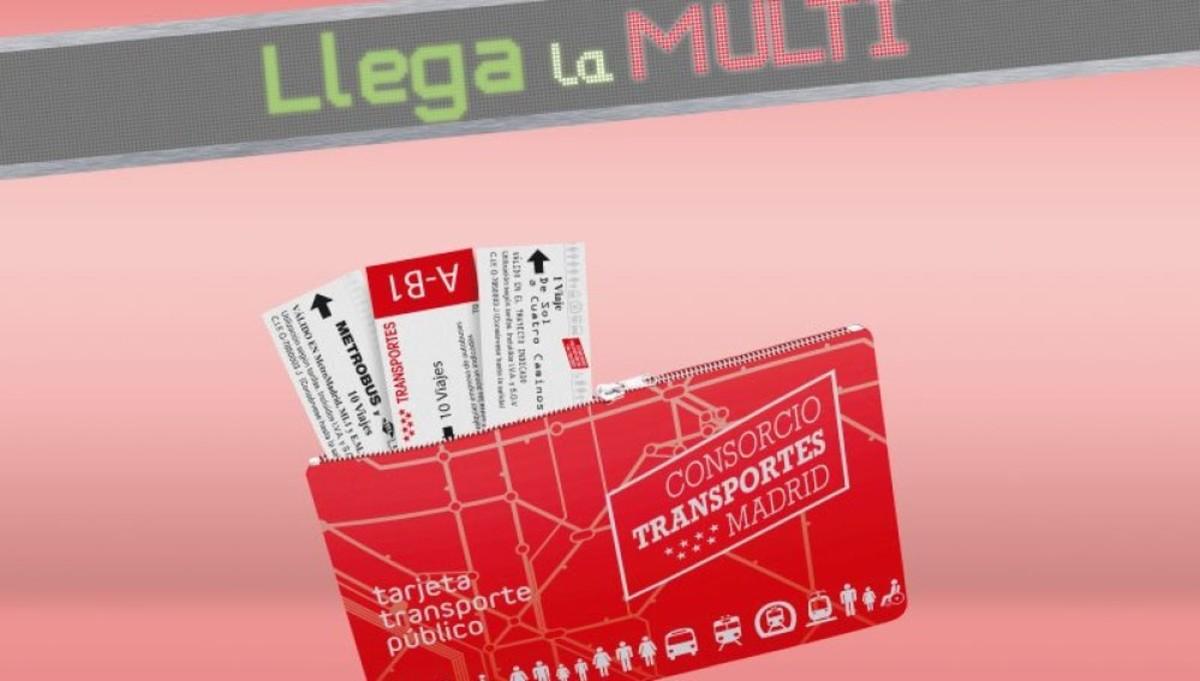 Las tarjetas Multi sustituye a los billetes en papel.
