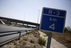 Letrero de la R-3, una de las autopistas rescatadas.