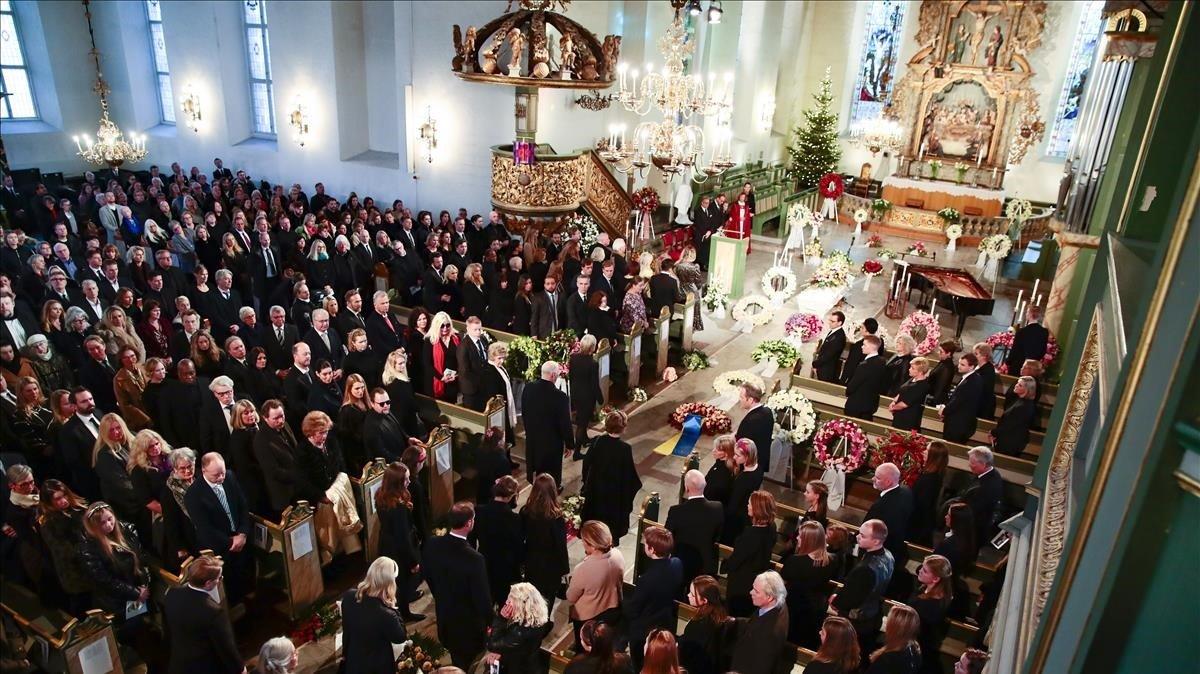 Funeral de Ari Behn, el pasado 3 de enero del Oslo.