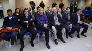 Los 17 acusados en el juicio del caso Nóos.