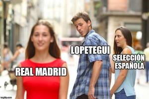 Meme sobre la destitución de Lopetegui