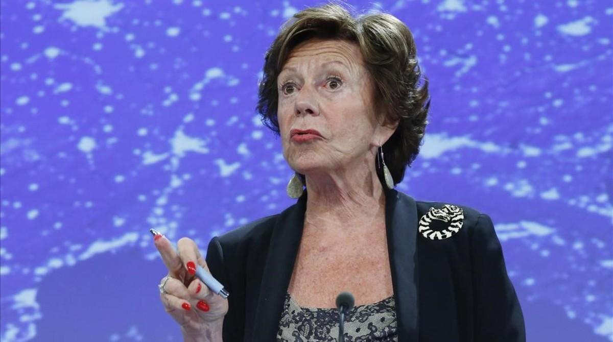 La excomisaria europea de Competencia, Neelie Kroes.